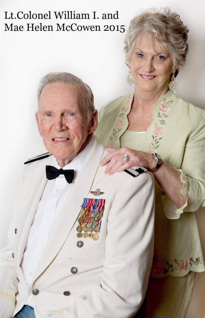 Lt. Colonel McCowen and Mae Helen McCowen 2015